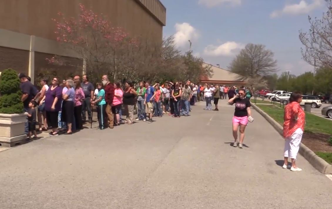 Parents flock to civic center after school threat