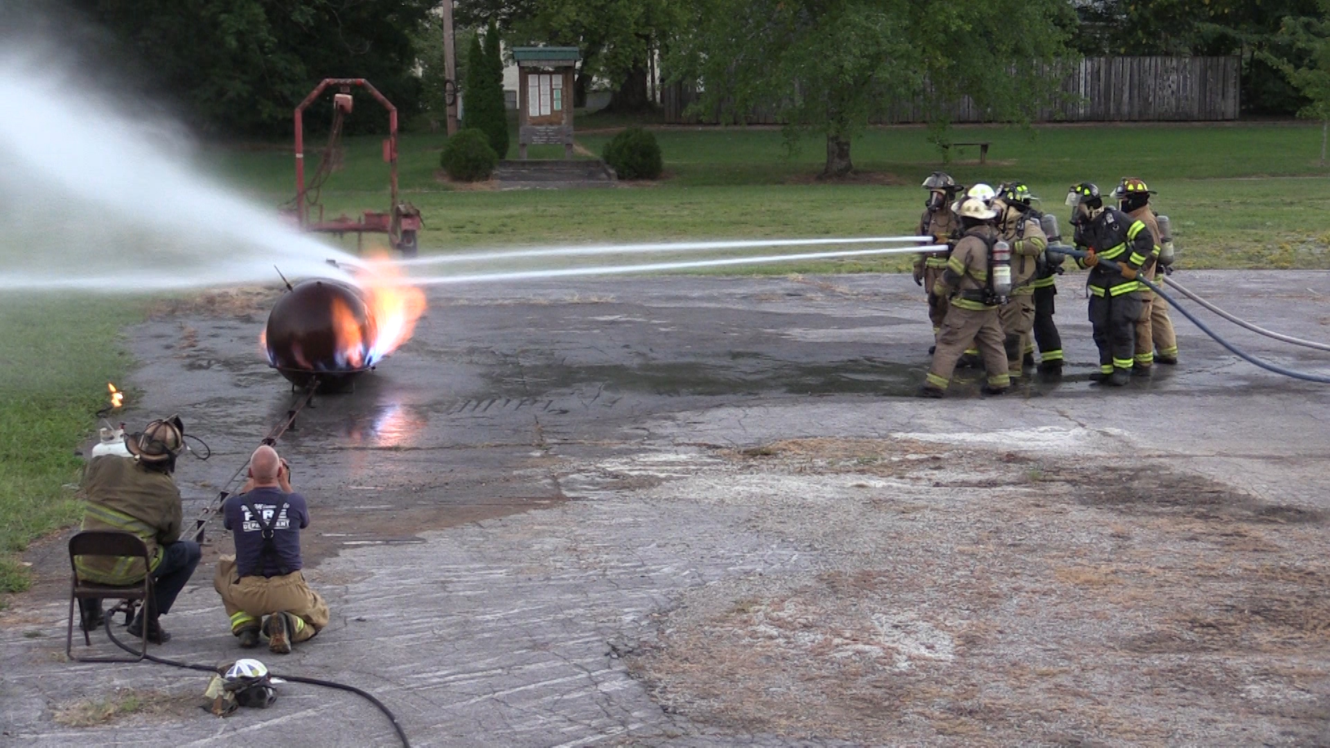 VIDEO: McMinnville Fire Department trains for propane fires