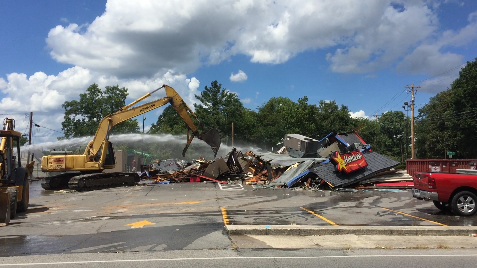 VIDEO - Completion of Hardee's demolition