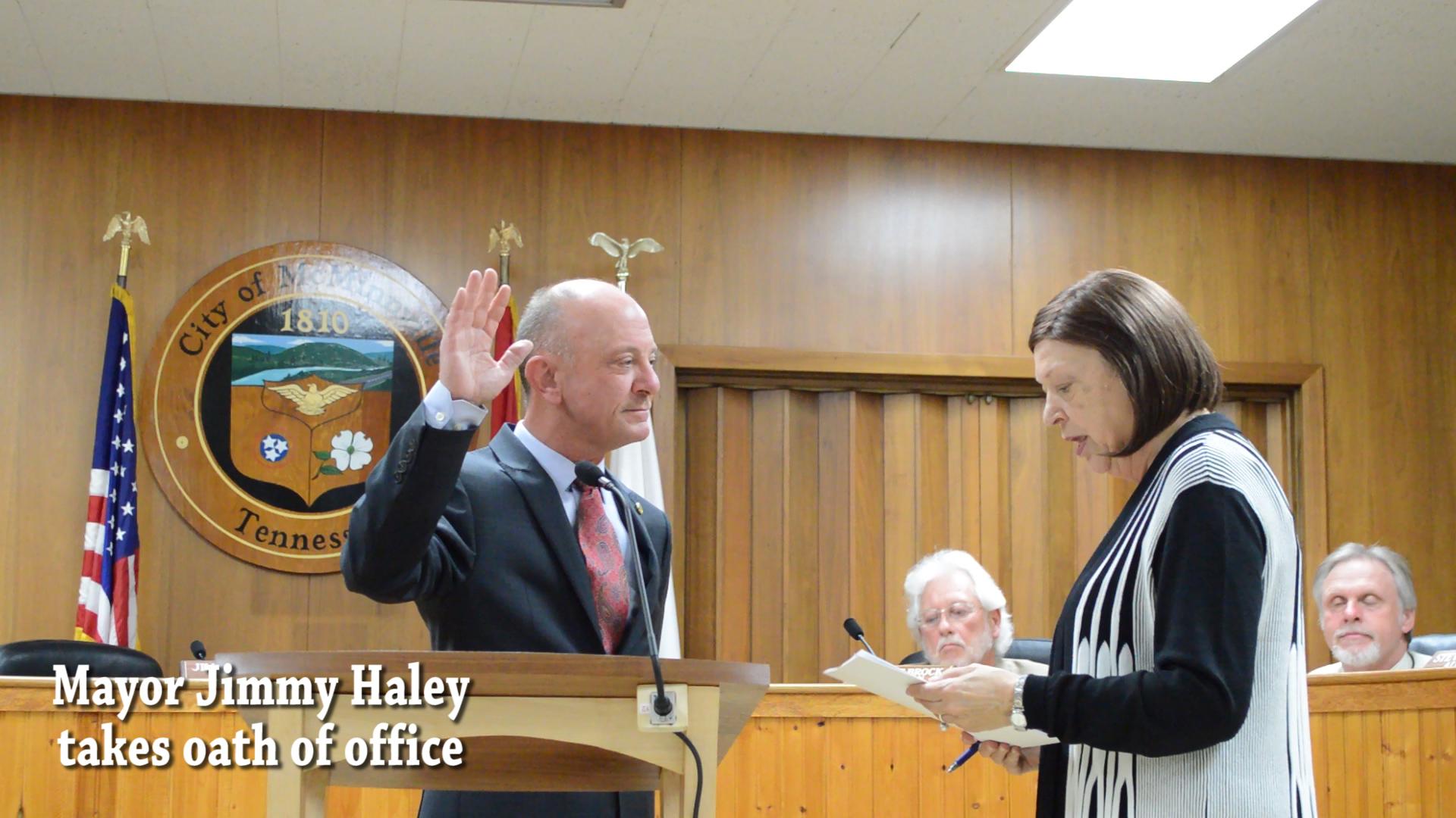 VIDEO: Mayor Jimmy Haley sworn in