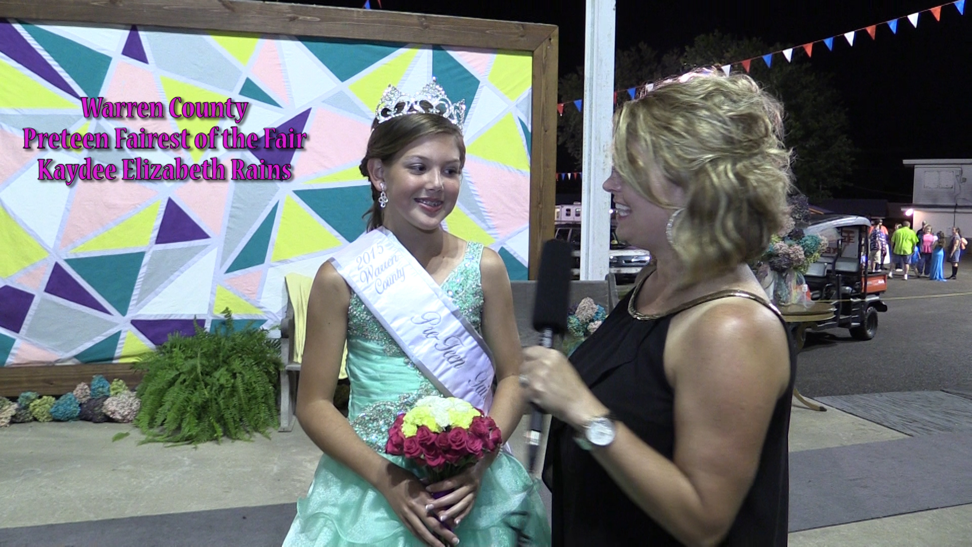 The Preteen Fairest is crowned at the fair