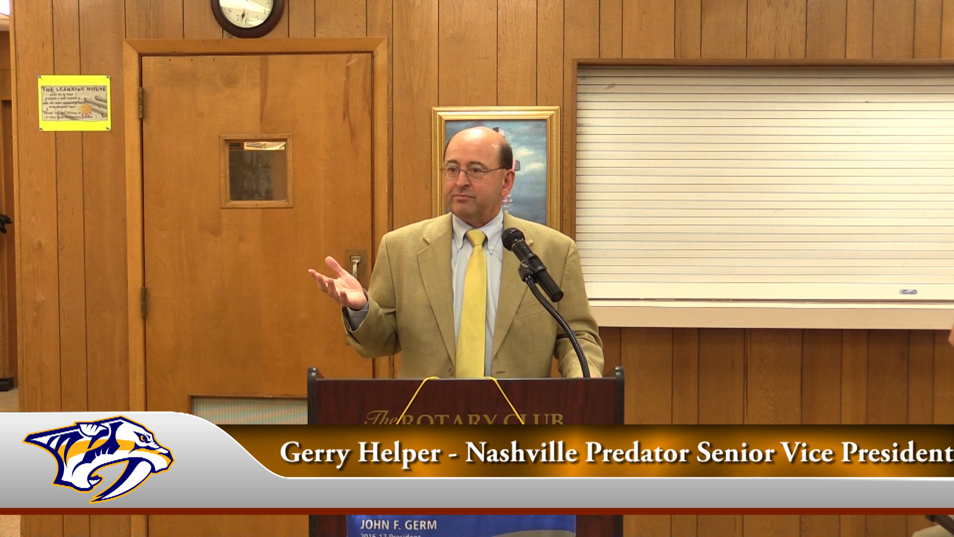 VIDEO: Nashville Predator VP speaks with Rotary