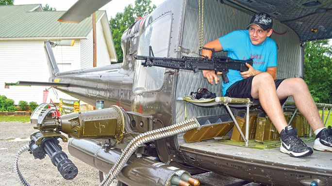 Taking aim at war history: Residents view helicopter flown during Vietnam