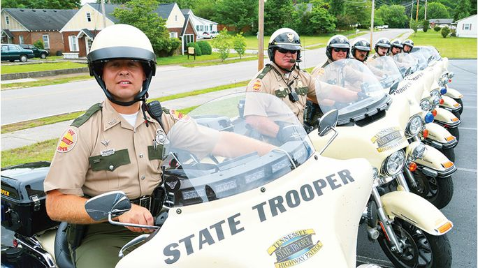 Motorcycle troopers out in force