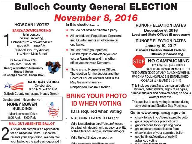 Bulloch County Elections