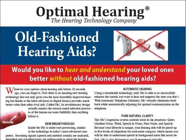 Optimal Hearing