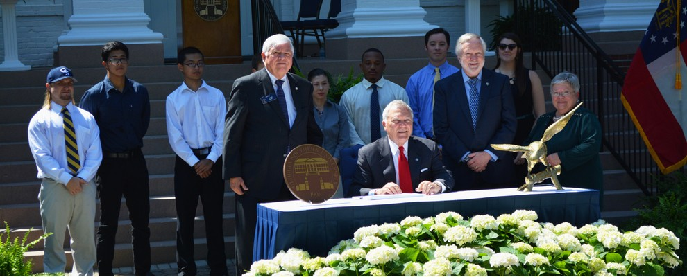 Governor Signs Budget at GSU