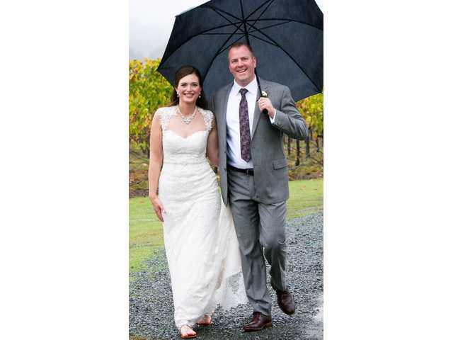Elizabeth Rink bride of Eric Gullickson on Oct. 25