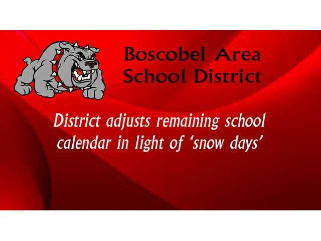 District adjusts remaining school calendar in light of 'snow days'