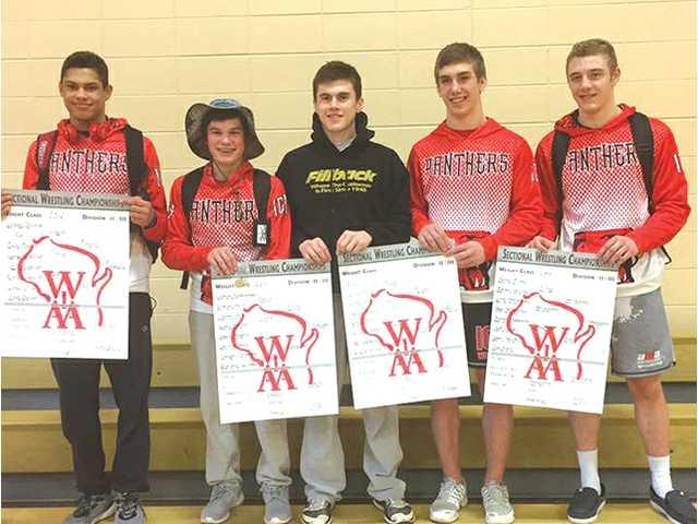 Five Panthers punch tickets to state wrestling tournament