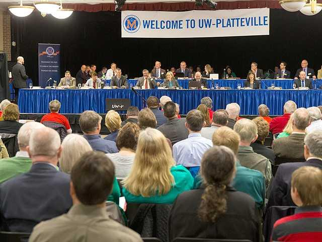 First state budget hearing held at UW–Platteville