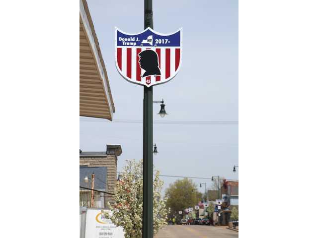 President Trump shield  added to Main Street