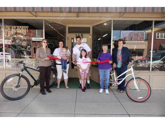Ribbon cut last Friday at Main Street Hobby & Bikes