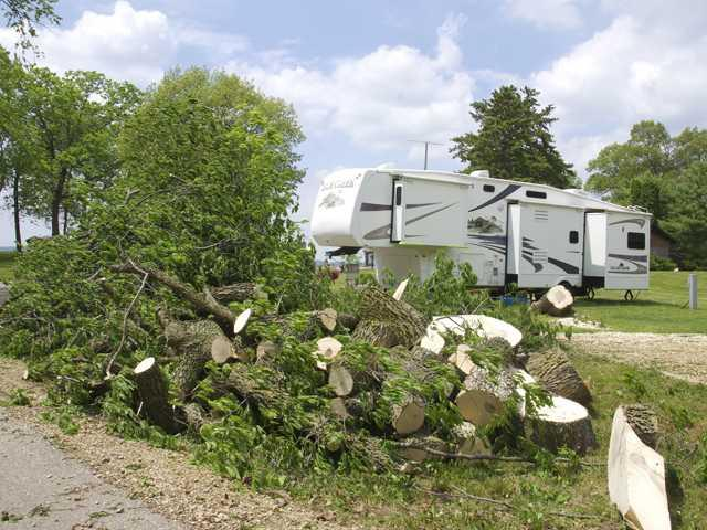 Monday's storms cause havoc in area