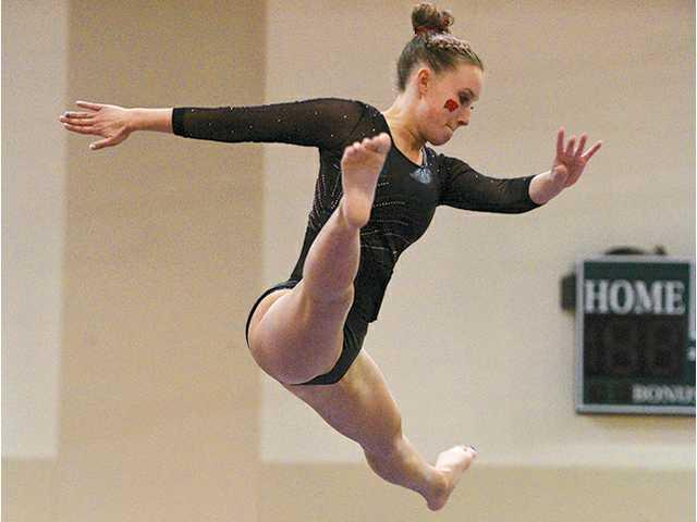 Hammermeister competes in  senior national gymnastics meet