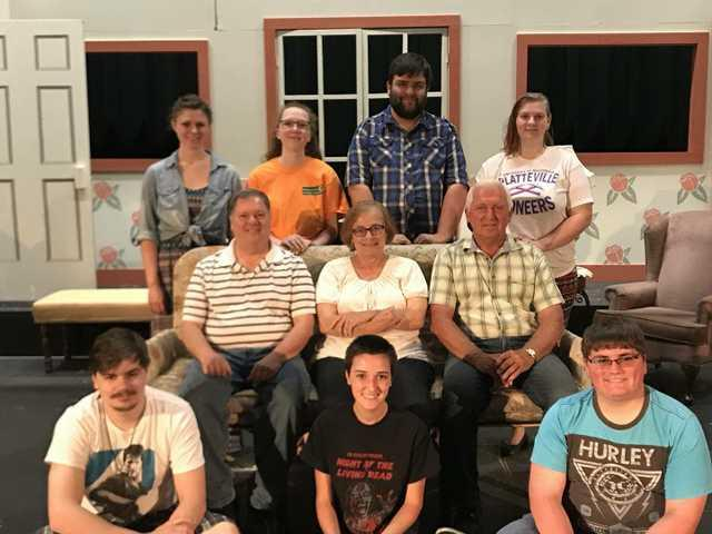 Community Players in preparation for summer production