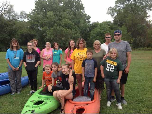 Kinship group enjoys kayaking