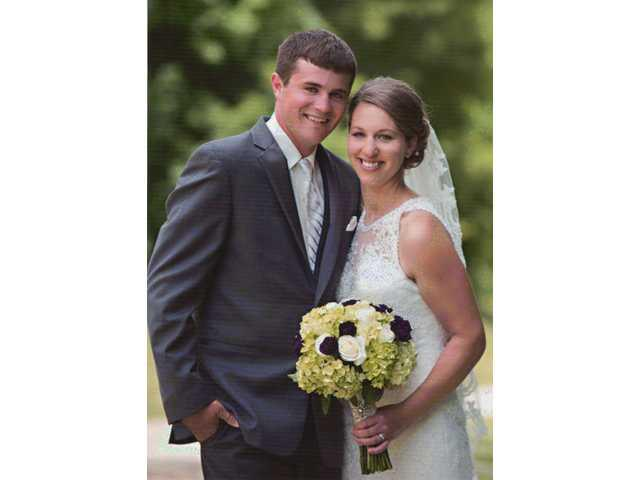 Murphy Wellsandt bride of Kyle McFall on June 17