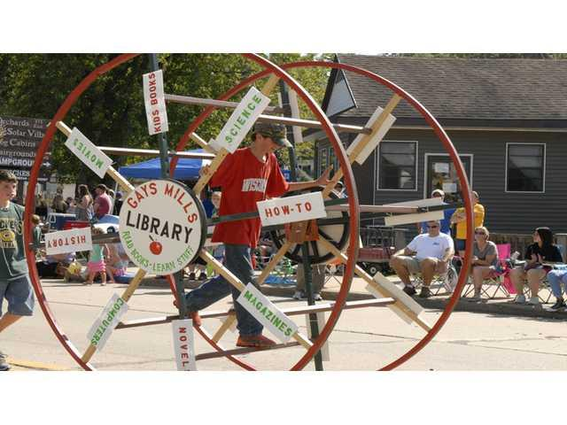 A bespoked library float