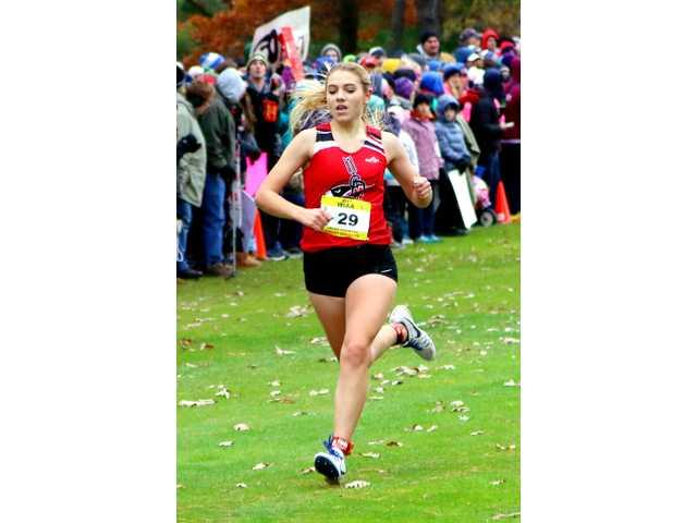 Komprood races away with Lady Redbirds first-ever state medal