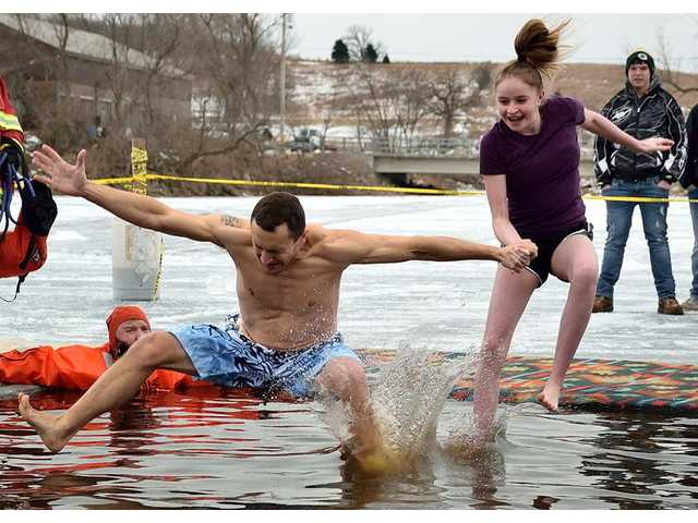 Cold winds braved at Lee Lake Polar Plunge