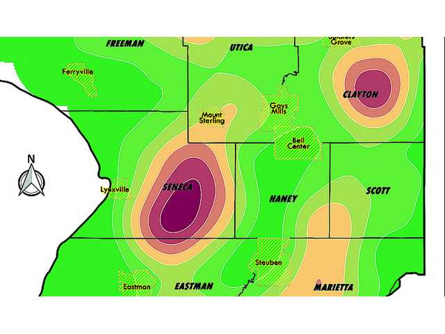 Crawford County identified as high sinkhole density area