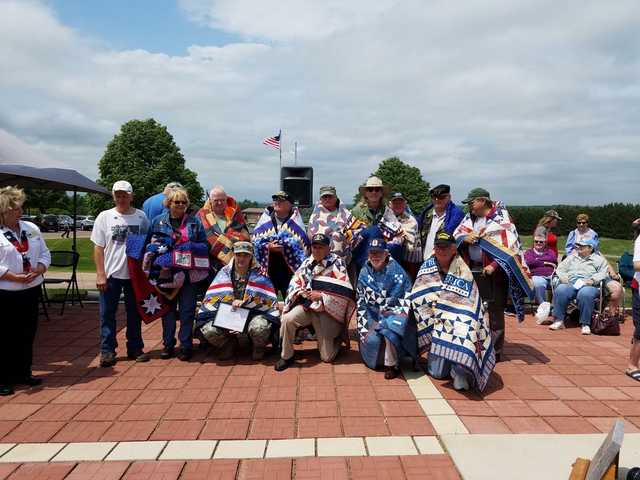 Quilts of Valor presented to vets