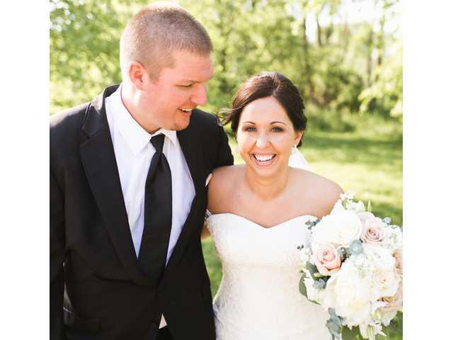 Melissa Hubbard bride of Benjamin DeWitt on June 3, 2017