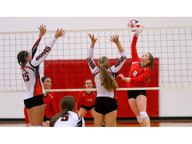 Lady Miners spike Braves in three