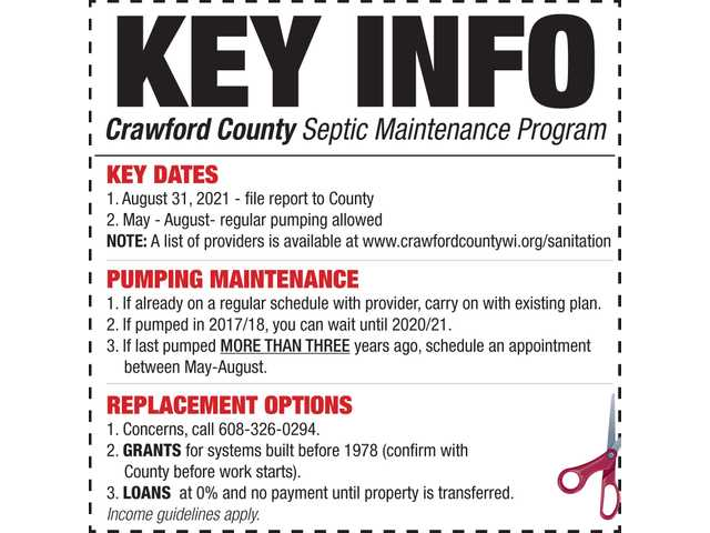 Crawford County Septic Maintenance Program is kicked off