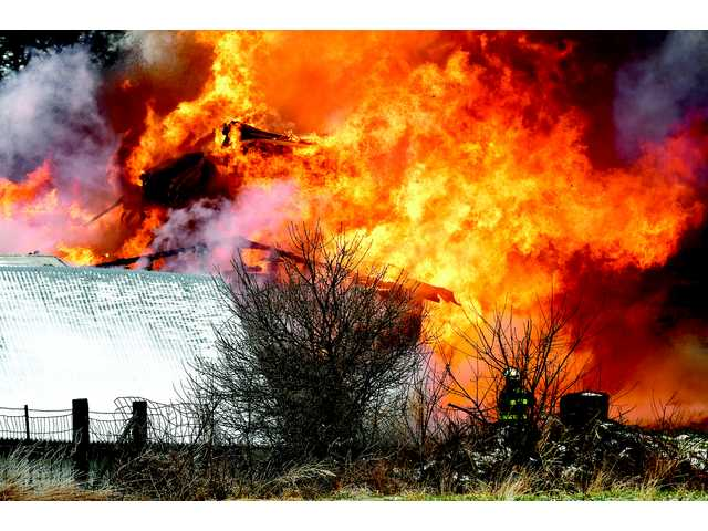Powerful Fire destroys local farm home