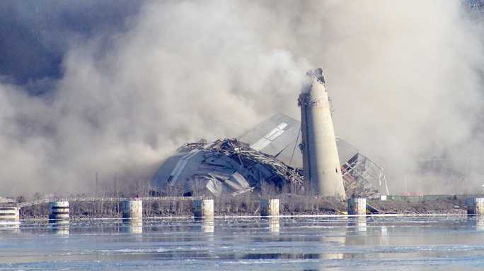 Nelson Dewey imploded after standing since the 1950s