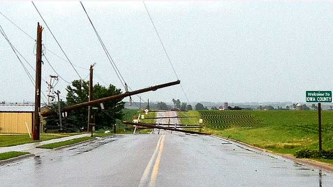 June 28 event knocks down power lines, creates flash flooding
