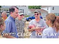 Scott Walker visits Cassville - Part 1