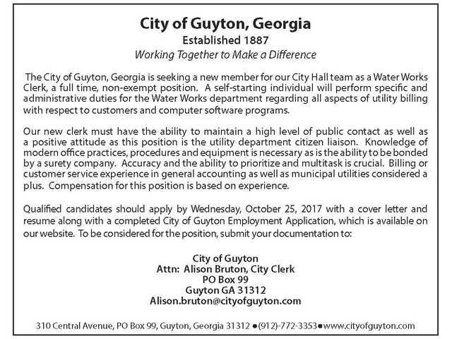 City of Guyton 10.11.17