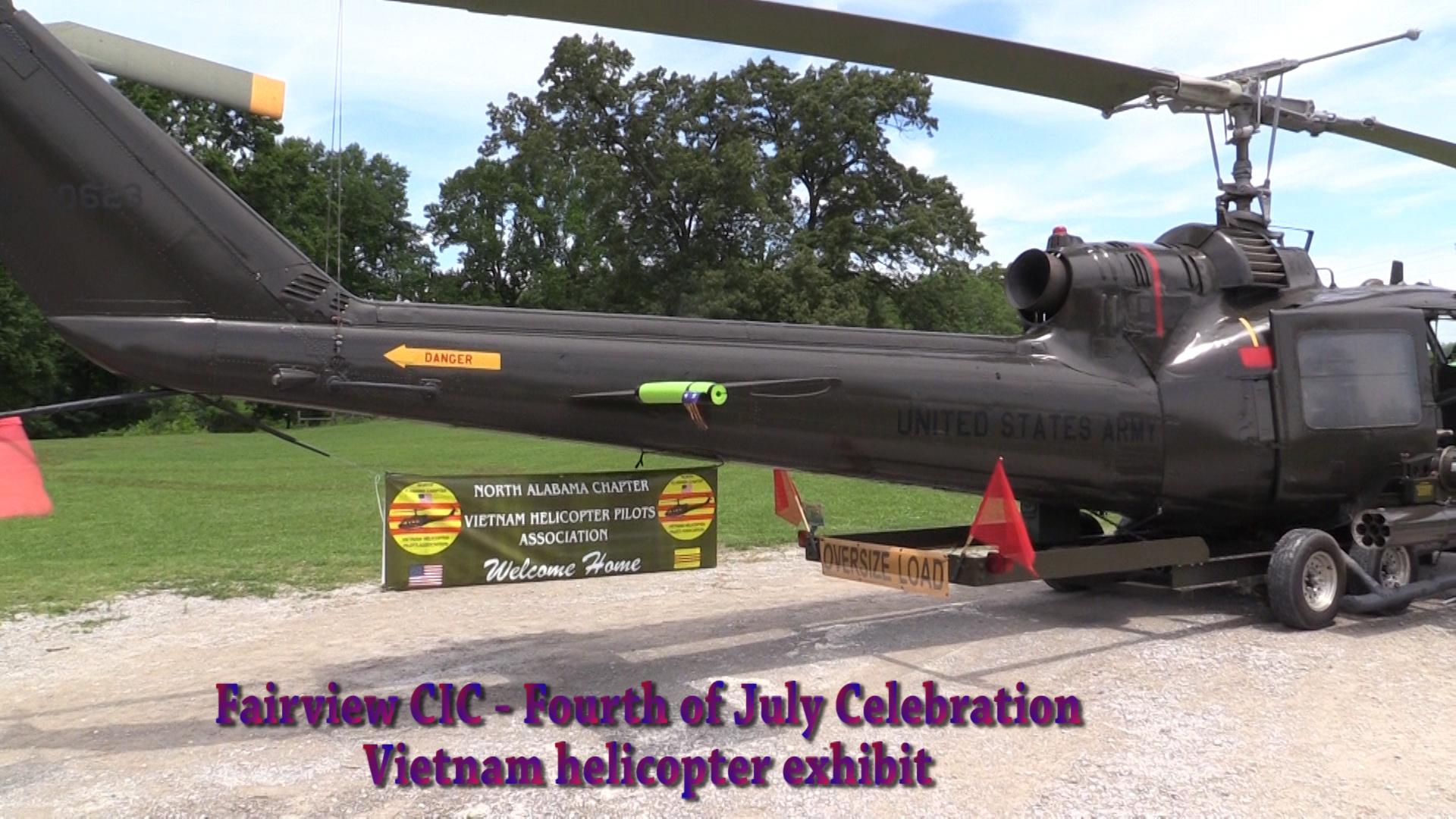 VIDEO - Fairview CIC hold helicopter exhibit